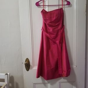 Aria strapless silk dress small